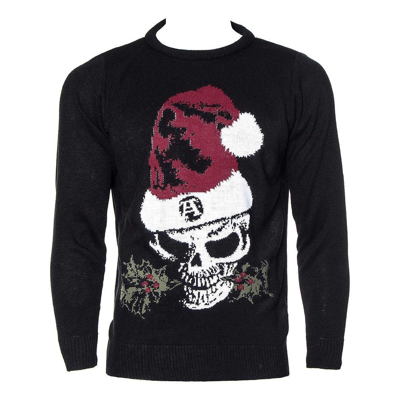 Alchemy Unisex-adult's Gothic Christmas Jumper - Medium, Black ...