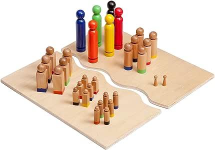 Kenley Tablero Sistémico para Terapia Familiar y Visualizar Relaciones - Juego de Mesa Educativo - 32 Figuras: Amazon.es: Juguetes y juegos