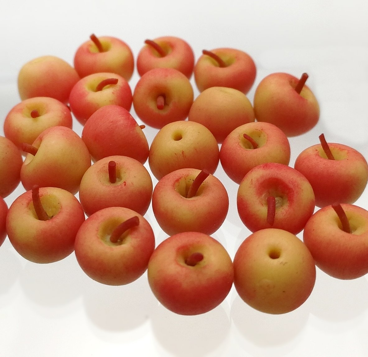 12 pc Polymer Clay Miniature Garden Food Clay Apples Groceries Apple Fruits 1:12