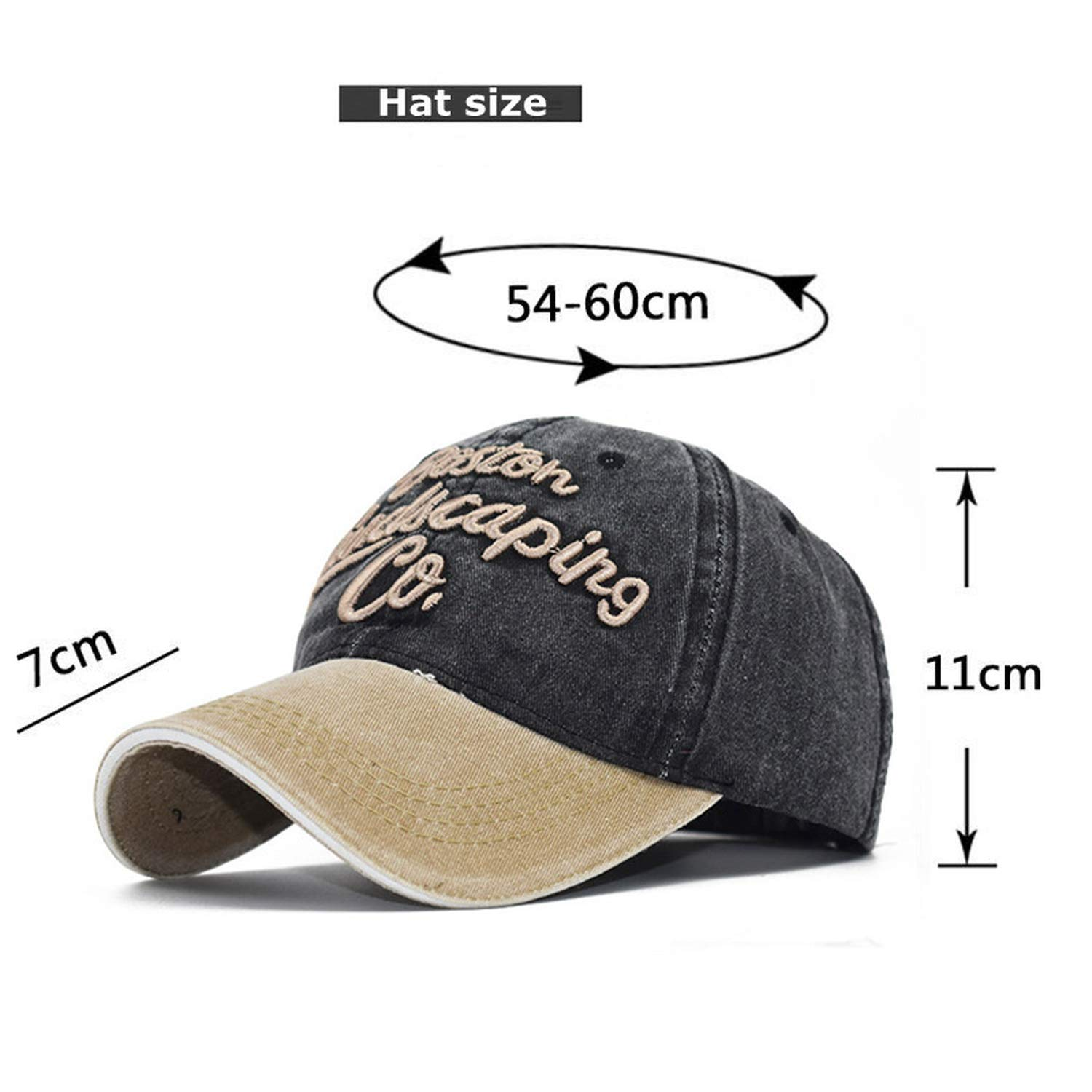 65710bf31e8 2019 New Men and Women Caps Dad Hat Baseball Cap Spring and Summer Cotton Hip  Hop Embroidery Visor Sun Hat Black at Amazon Men s Clothing store