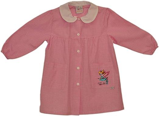 Tutti a Scuola - Bata de Colegio 28-413 para niña, a Cuadros, guardería, con Bordados ES 116cm: Amazon.es: Ropa y accesorios