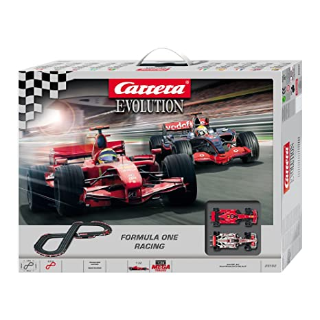 Amazon com: Carrera Evolution Formula One Slot Car Set: Toys & Games