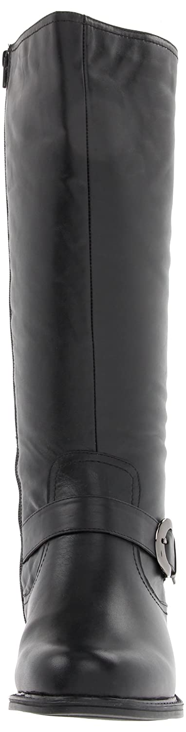 David Tate Women's Branson Wide Shaft Boot B00BBM19A6 6 W US|Black