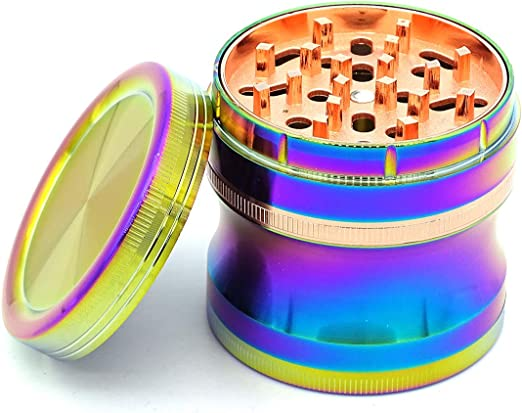 Amazon Com Snvin World S First Semi Automatic Herb Grinder Colorful Kitchen Dining
