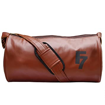 9bd0053eef Image Unavailable. Image not available for. Colour  Fashion 7 Leather Tan  Gym Totes