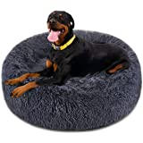 FOCUSPET Dog Bed Cat Bed Donut,Pet Bed Faux Fur Cuddler Round Comfortable for Small Medium Large Dogs Ultra Soft Calming…