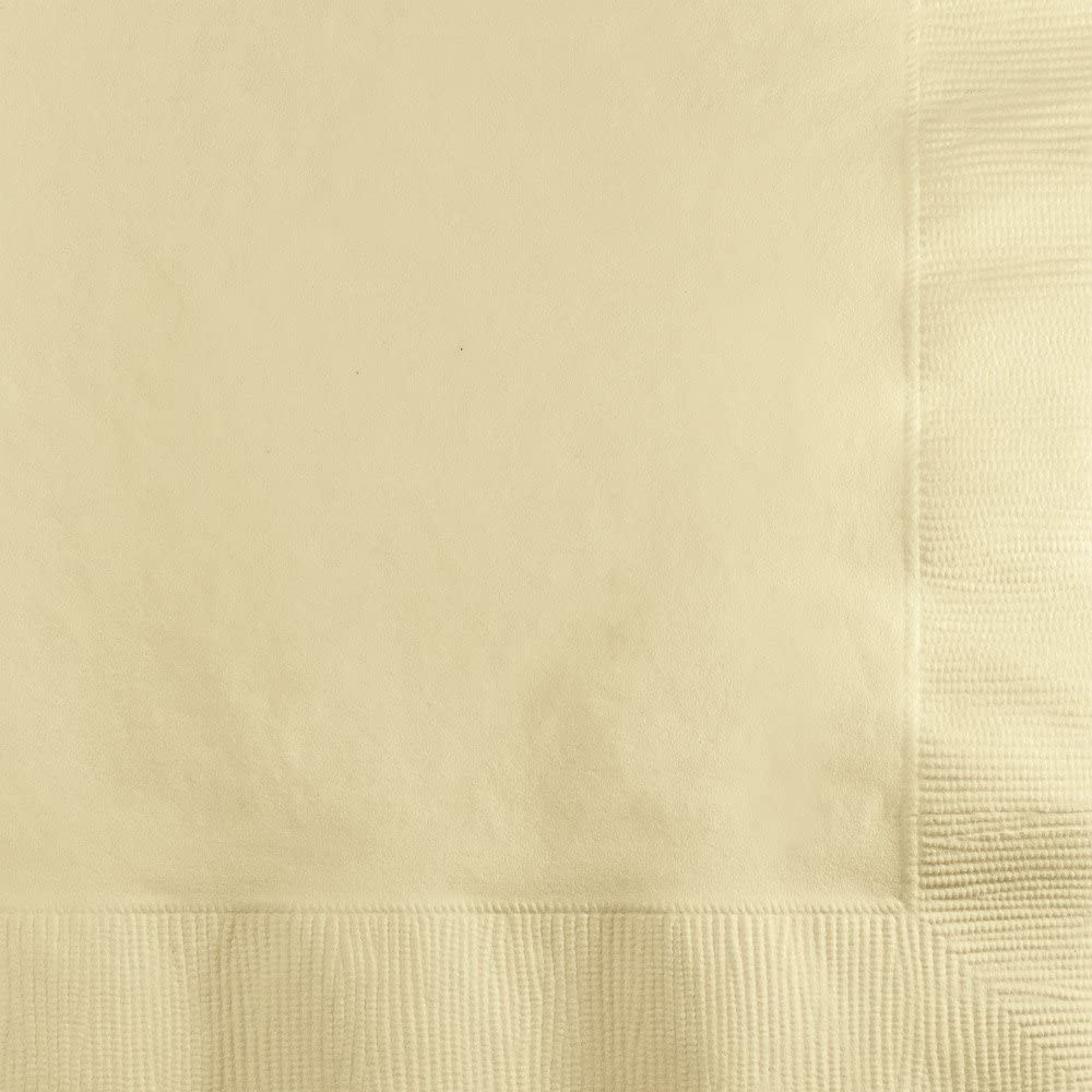 Creative Converting Paper Beverage Napkins Touch of Color, Ivory