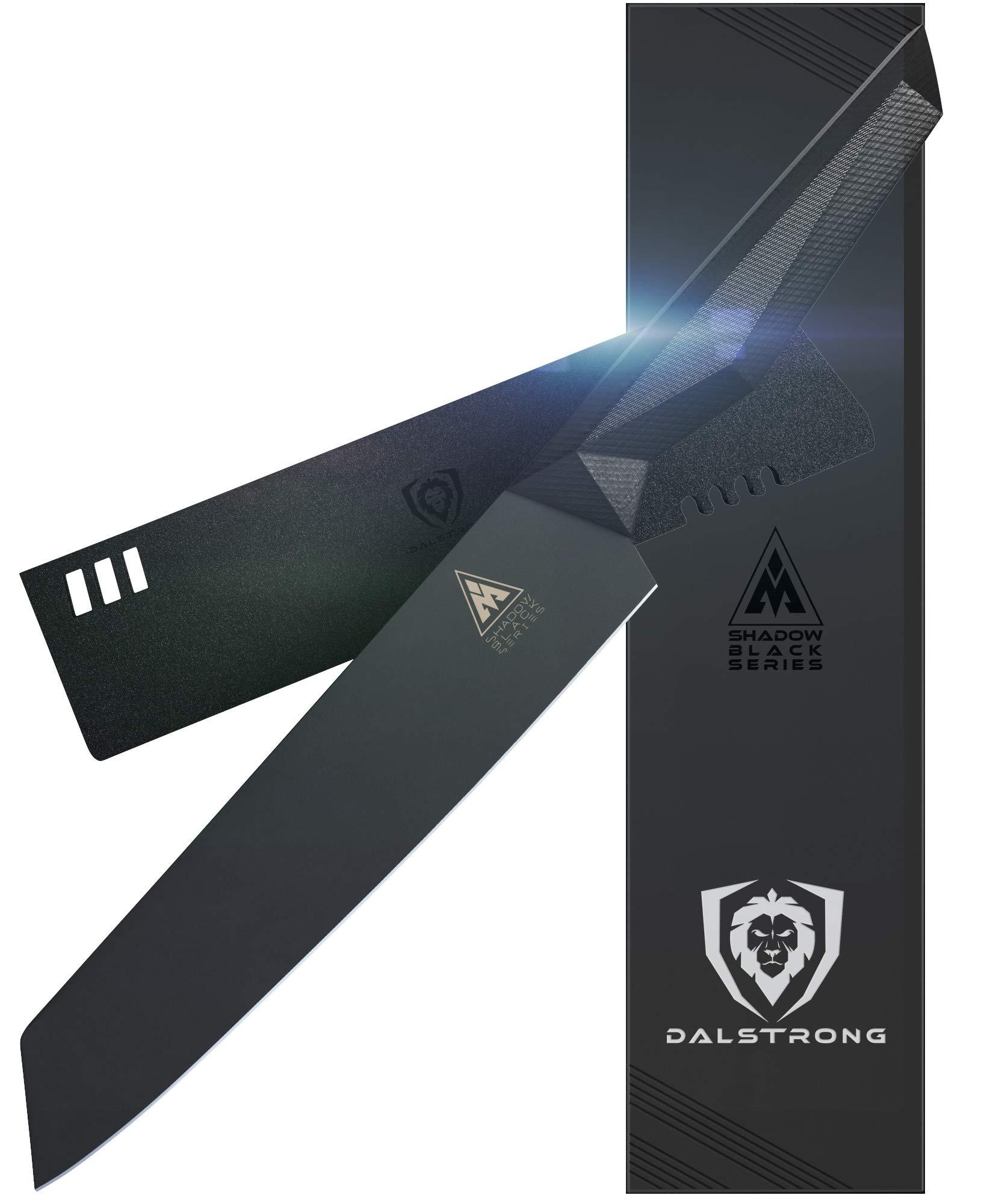 DALSTRONG - 8.5'' Kiritsuke Knife - Shadow Black Series - Black Titanium Nitride Coated German HC Steel - Sheath - NSF Certified by Dalstrong