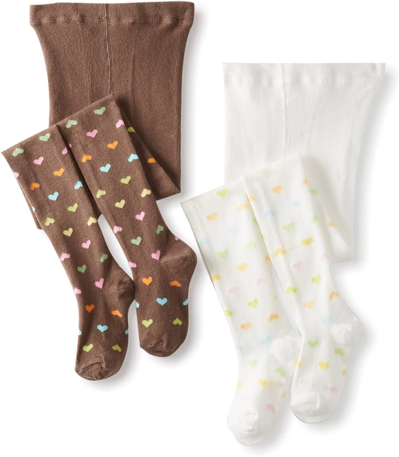 Country Kids Mocha Hearts Cotton Winter Tights Girls 1-3 years