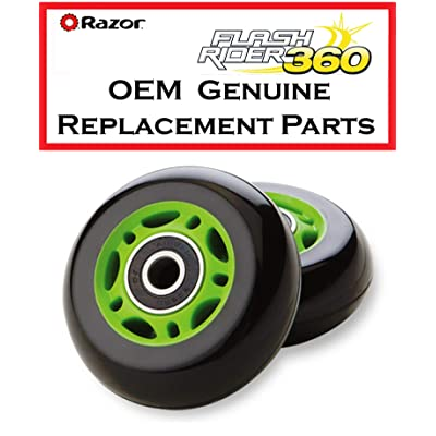 Razor Set of 2 Green Replacement Wheels FlashRider : Sports & Outdoors