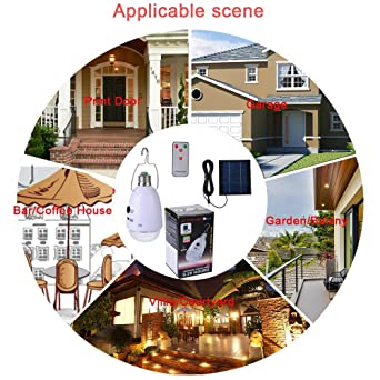 160Lumen Solar Bulb Lights Outdoor for Outdoor Camping Tent Fishing Hiking Home Yard Emergency - - Amazon.com