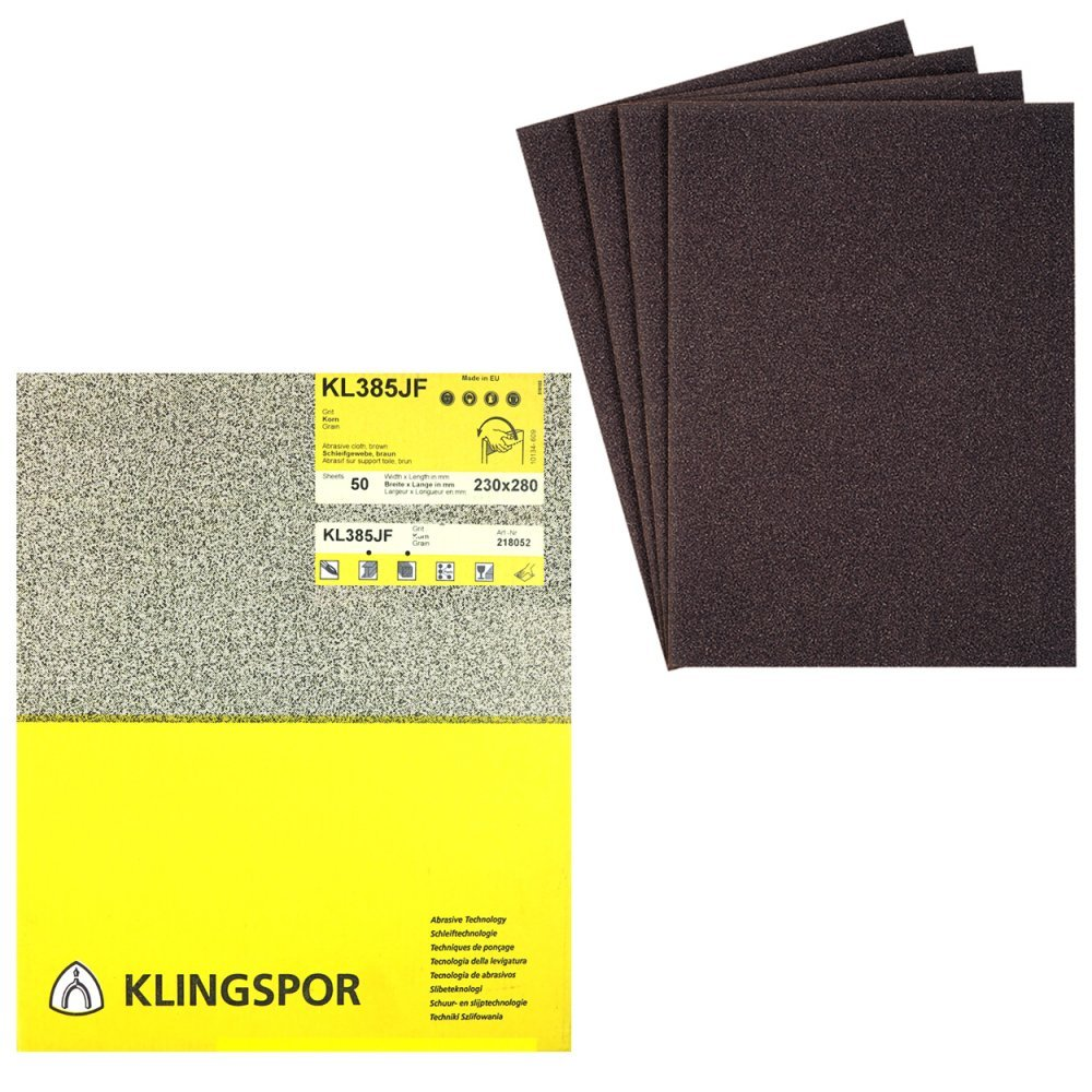 Klingspor KL 361 JF Schleifrolle Schleifpapier 80 x 50000 mm Korn 150