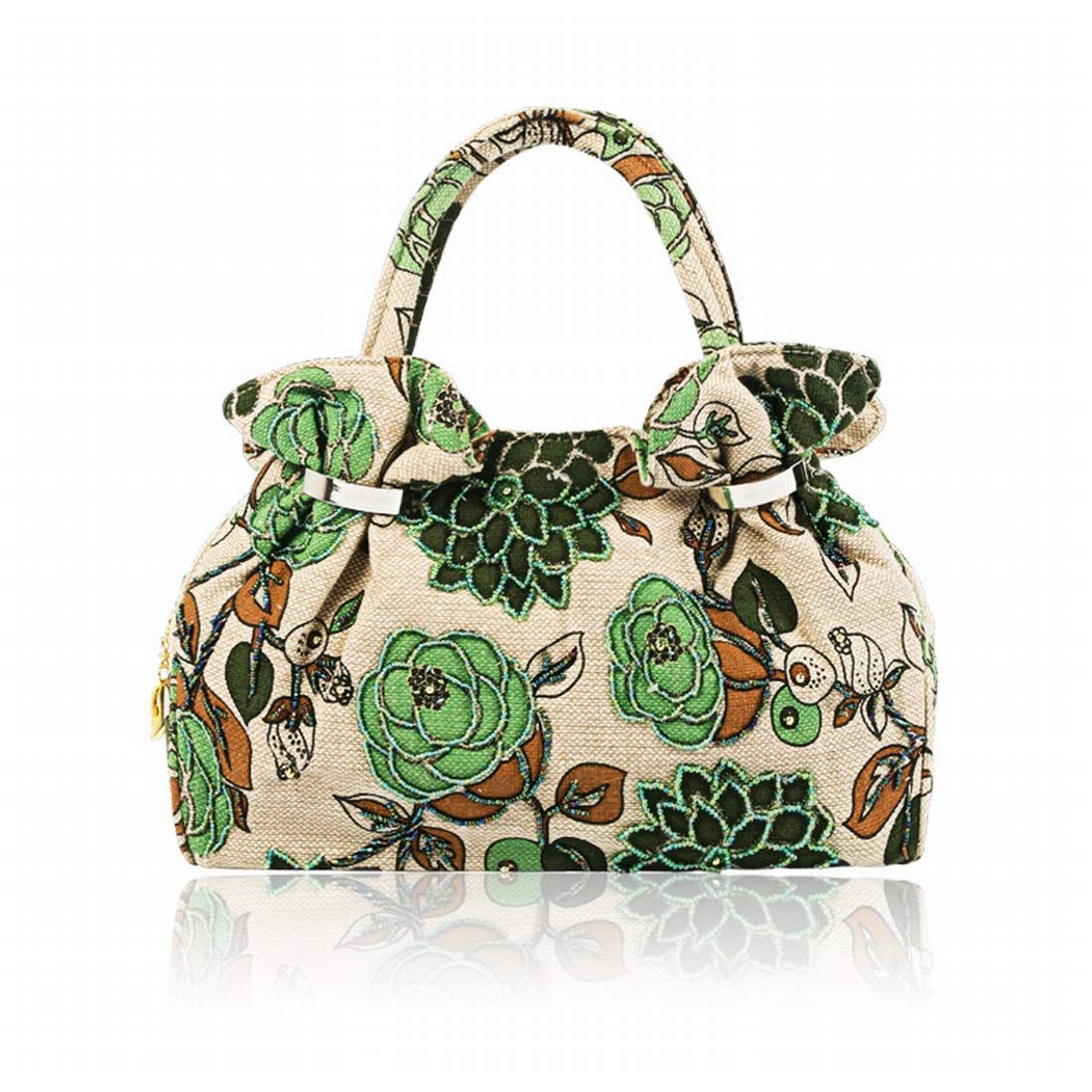 Sixminyo Damen Vintage Besteickte Perlen Perlen Perlen Pailletten Abend Clutch Hochzeitsgesellschaft Handtasche (Farbe   Grün) B07Q3R6SP8 Clutches Mangelware 5d614d
