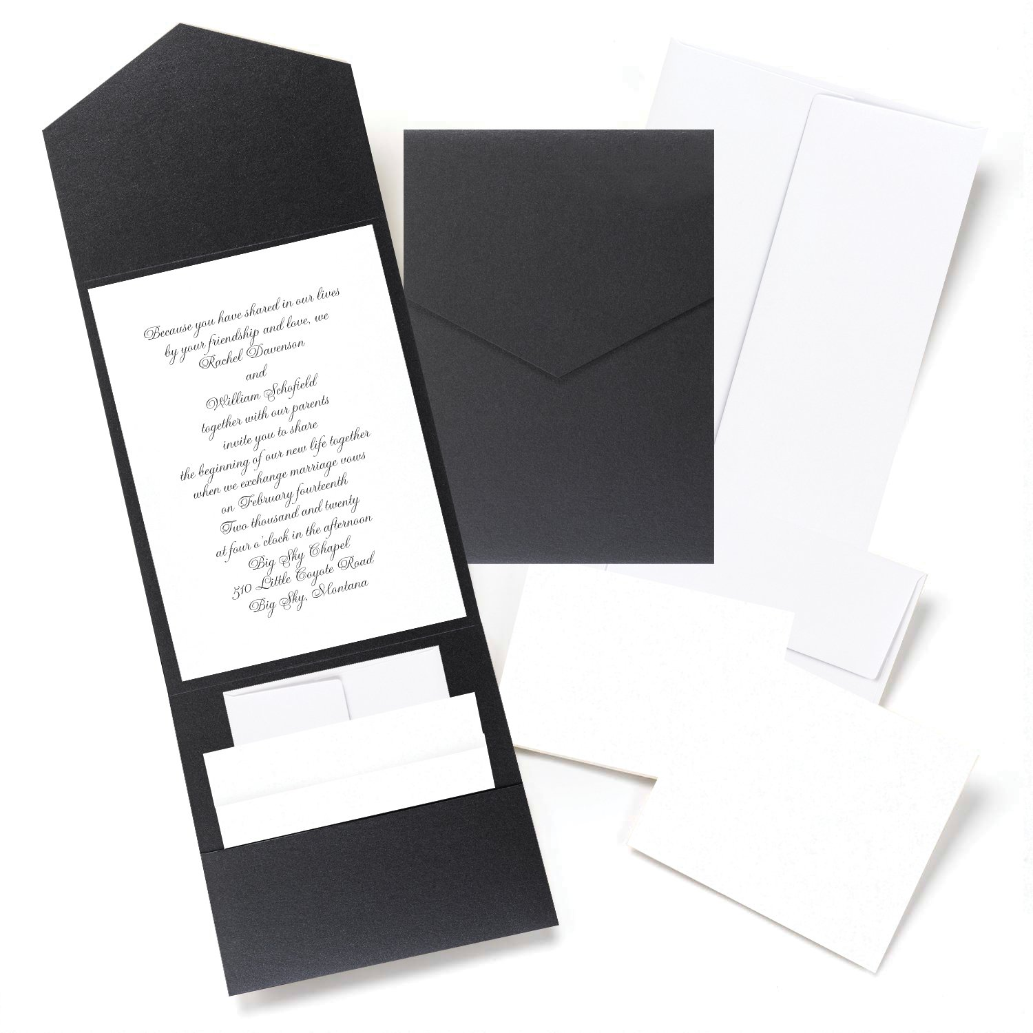 Amazon.com: Hortense B. Hewitt 25 Count Shimmer Pocket Invitation ...