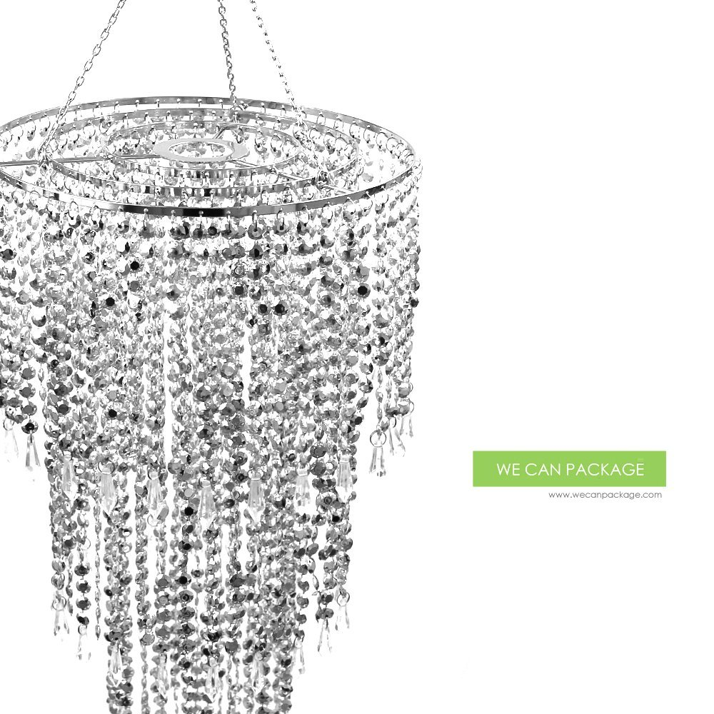 Amazon 20 silver wedding crystal chandeliers centerpieces amazon 20 silver wedding crystal chandeliers centerpieces decorations crystal bling diamond cut for event party decor kitchen dining arubaitofo Images