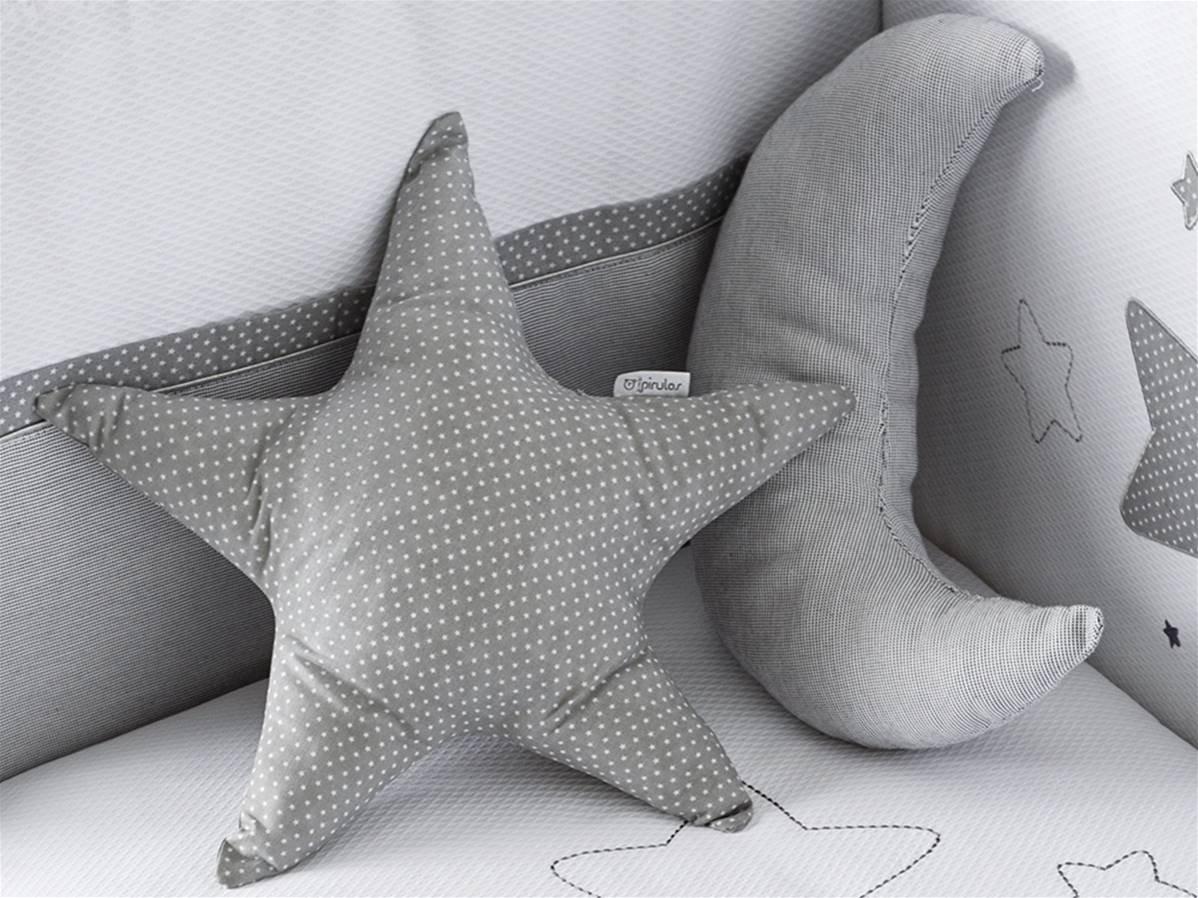 pirulos 79113120Cushion Forms, Moon Design, White and Gray Coimasa