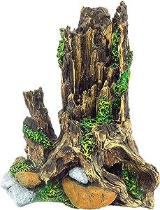 "Gumolutin Fish Tank Aquarium Decorations Resin Wood Large Tree Root Aquarium Ornament 8"" high"