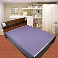 Dolphers Waterproof Plastic Mattress Protection Sheet for Baby and Adult - Double Bed/King Size - 7.5 x 6.5 feet - Grey