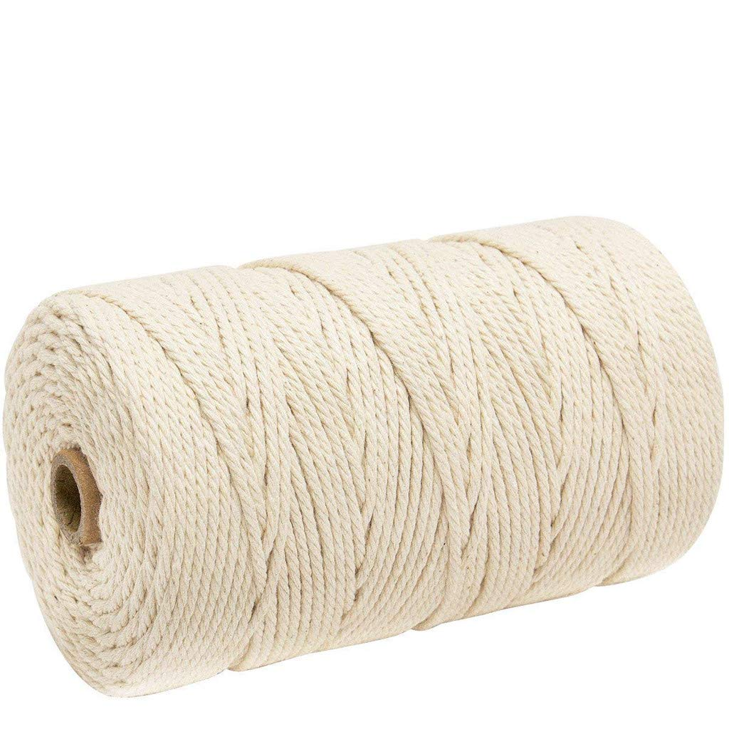 💗 Orcbee 💗 _3mm x 200m Macrame Cotton Cord for Wall Hanging Dream Catcher White
