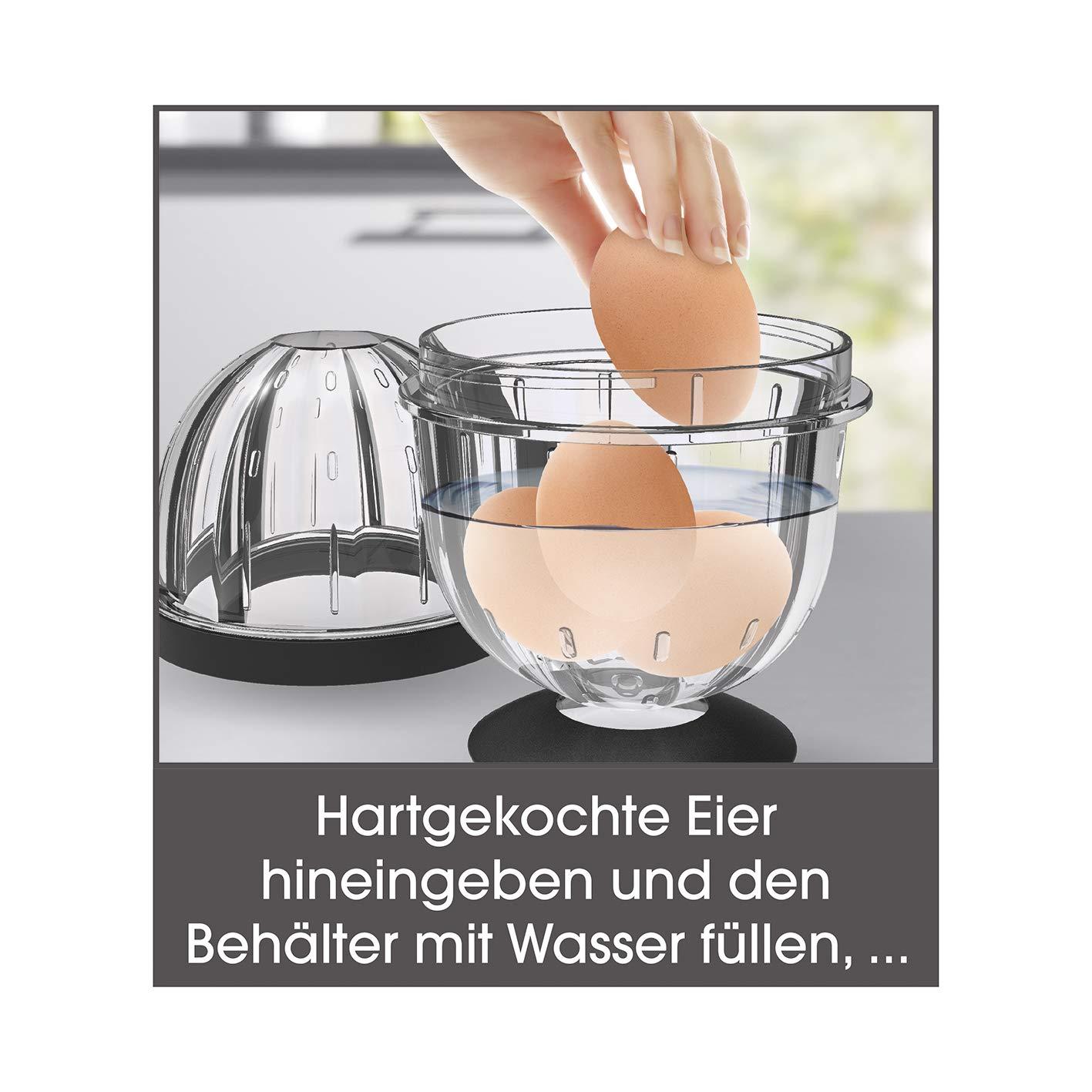 Extrem schnell sch/älen durch Sch/ütteln GOURMETmaxx Eiersch/äler Bis zu 5 Eier aufeinmal