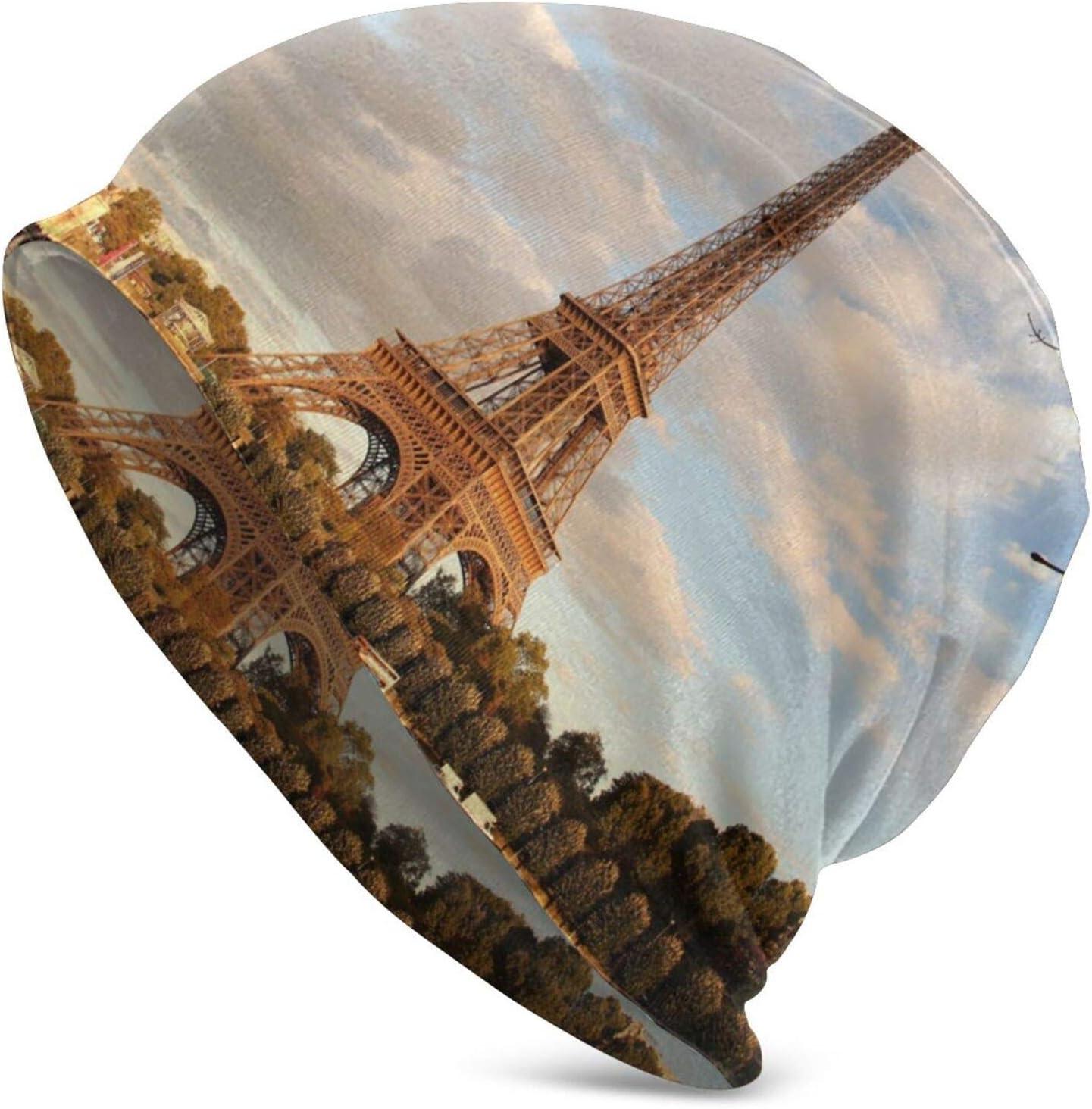 QUEMIN Bolsa Francia Otoño París Torre Ciudades Paisaje Mar Agua Naturaleza Exterior Océano Calavera Gorro Beanie elástico Gorras holgadas Invierno Tejido Moda Sombreros para Mujeres Hombres