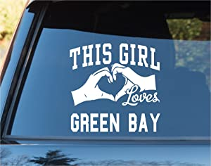 DABBLEDOWN DECALS This Girl Loves Green Bay Decal Sticker Car Window Truck Laptop Tablet Packers Favre Rogers Wisconsin