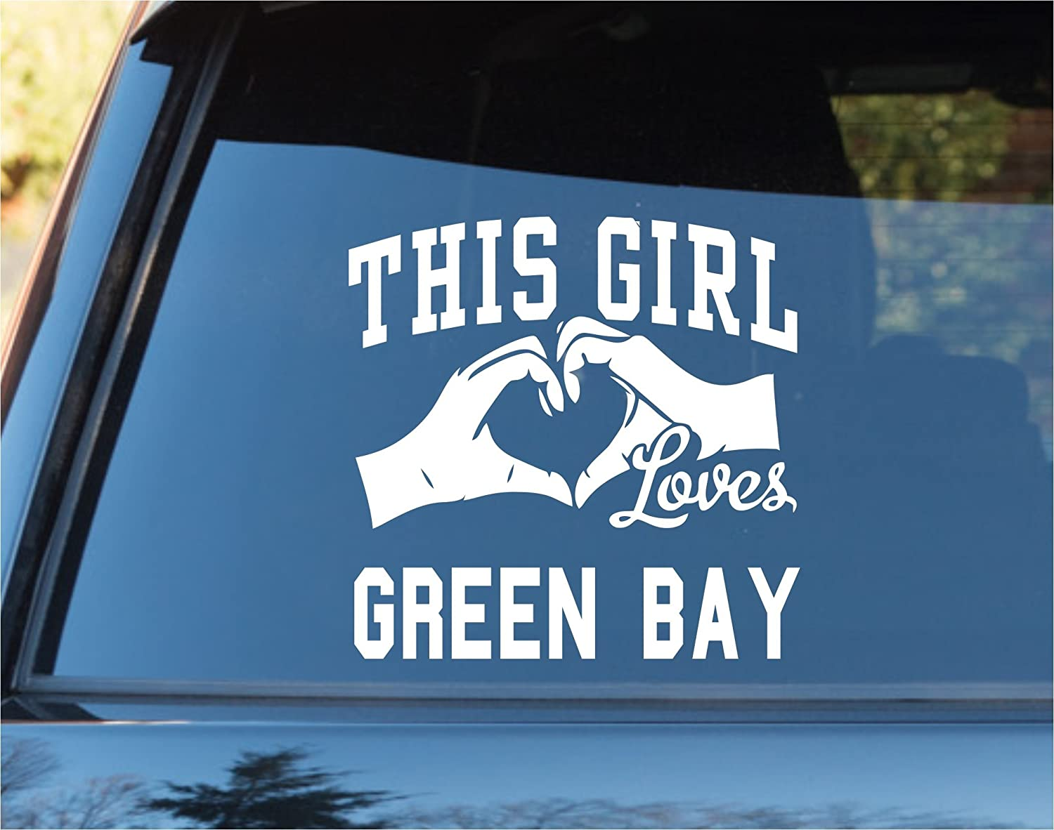 Amazoncom DABBLEDOWN DECALS This Girl Loves Green Bay Decal - Car sticker decals vinyl girl