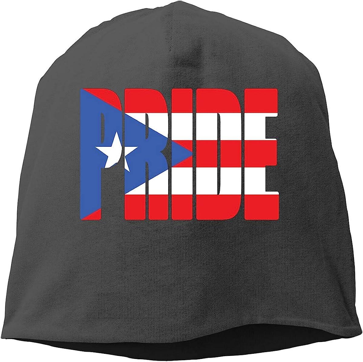 Puerto Rico Pride Flag Unisex Knitted Hat Beanie Hat Warm Hats Skull Cap