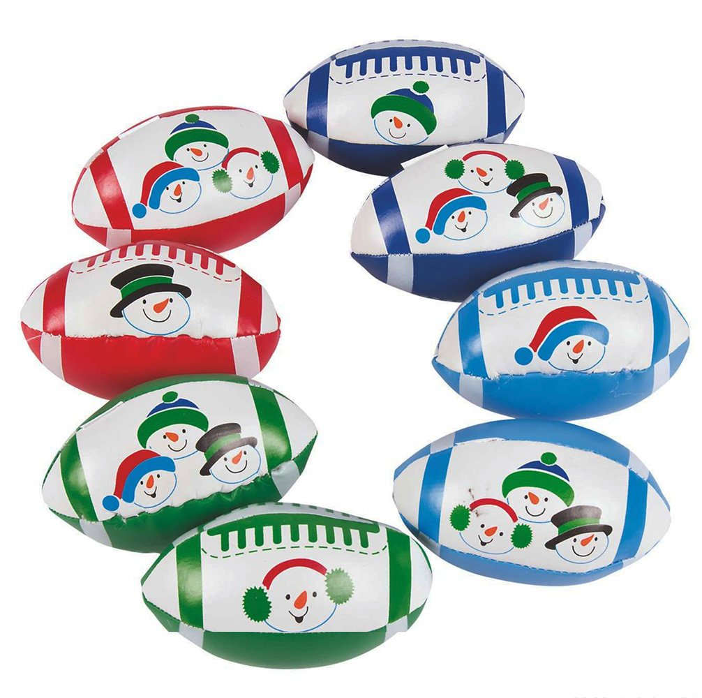 Snowman Footballs - Great For Little Athletes or Sports Fans - 18Balls