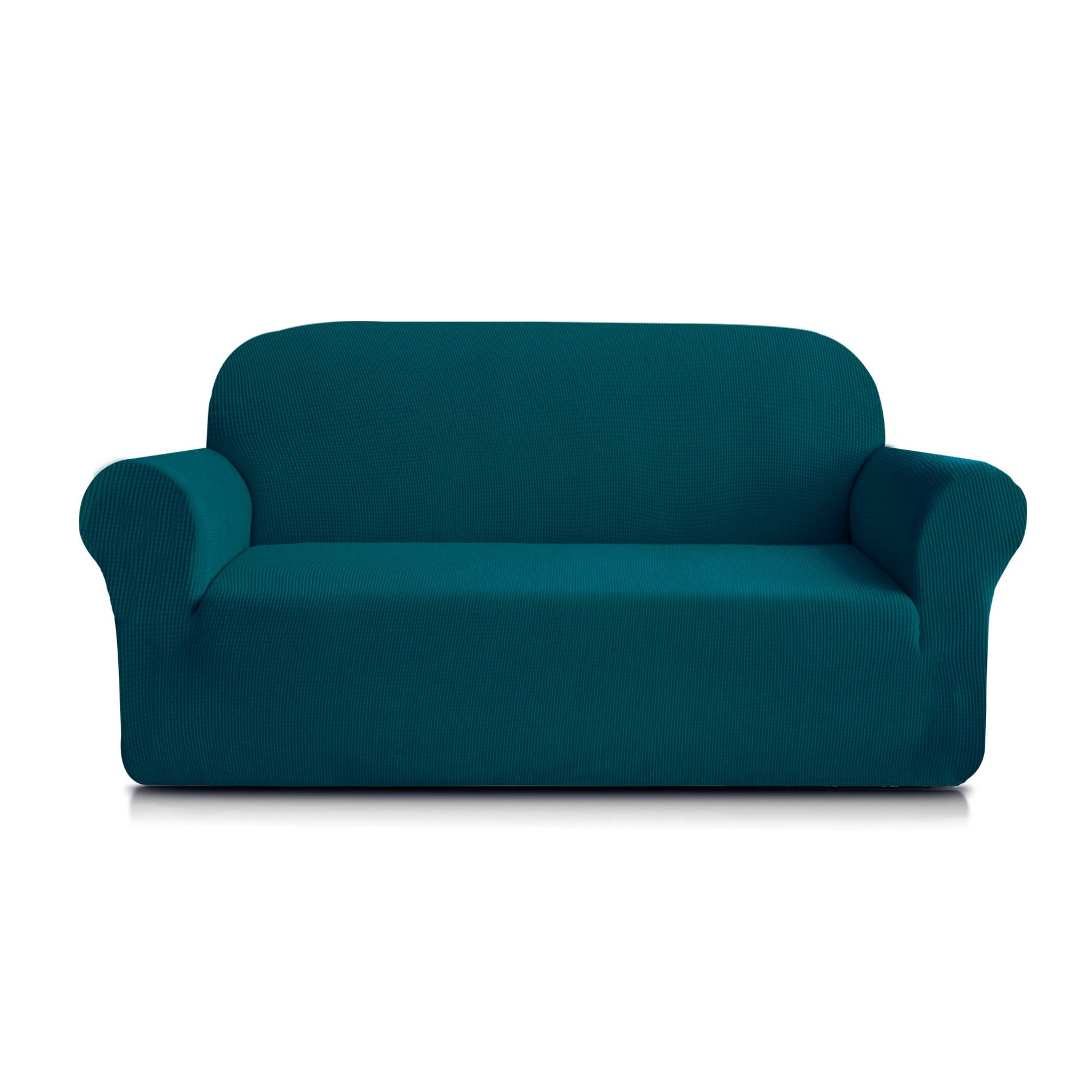 Subrtex 1-Piece Spandex Stretch Sofa Slipcover (Loveseat, Blue) by Subrtex