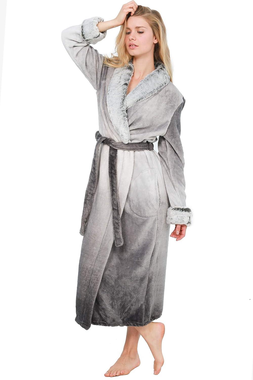 Cozy /& Curious Womens Sleepwear Bath Robe Soft Comfortable Spa Robe Loungewear House Robe for Women