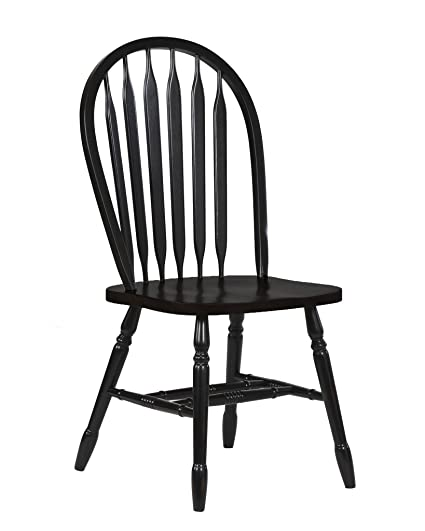 """Sunset Trading Arrowback Dining Chair in Antique Black, Set of 2, 38"""", - Amazon.com - Sunset Trading Arrowback Dining Chair In Antique Black"""