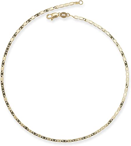 18kt Gold Over Sterling Silver Mariner Anklet Womens Fine Jewelry Accessories