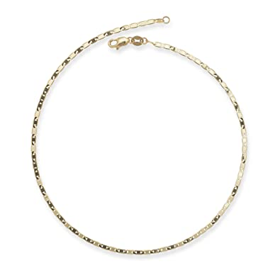 yellow chain solid mm anklet gold pin clasp or singapore spring ring white