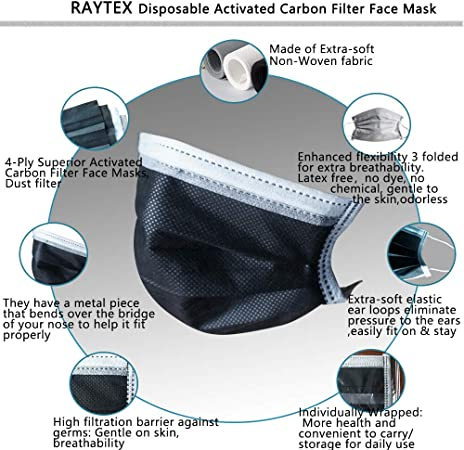 disposable charcoal face mask