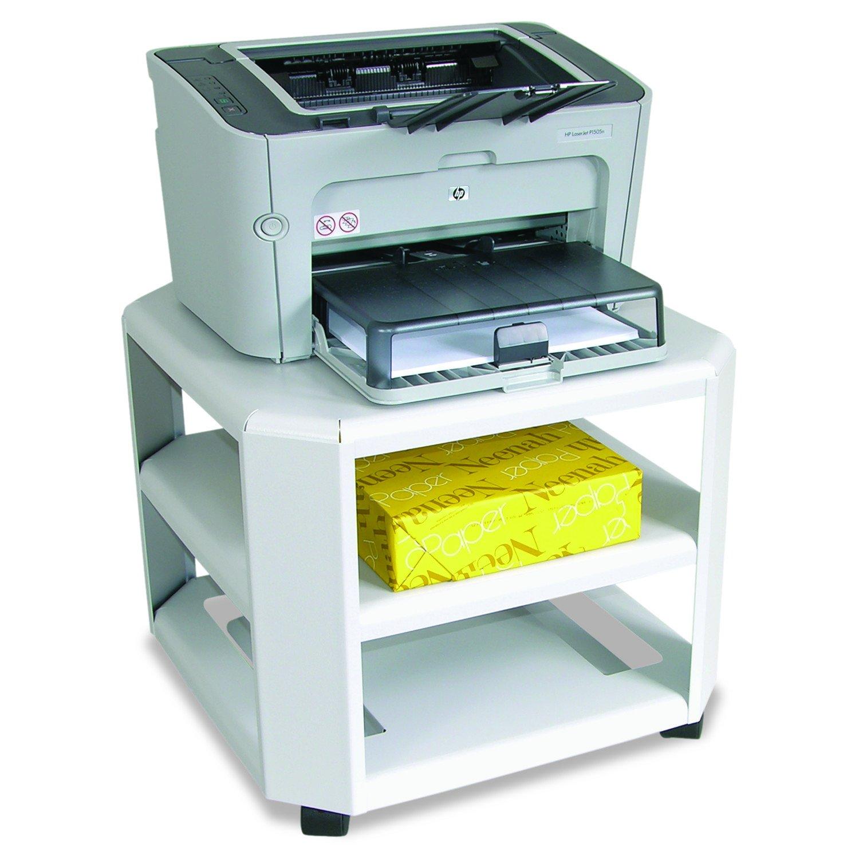 Master Products Mfg. Co. 24060 Mobile Three-Shelf Printer Stand, 17-7/8w x 17-7/8d x 14-3/4h, Platinum
