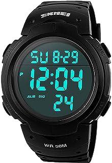 Mudder Reloj Deportivo Digital para Hombre, Estilo Militar, Sumergible a 5 ATM, Multifuncional, Moderno: Amazon.es: Relojes