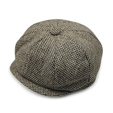92c3c0808fc0 Mens Retro Style Grey Baker Boy Hat Newsboy Gatesby Tweed Country Flat Cap  (Colour ): Amazon.co.uk: Clothing