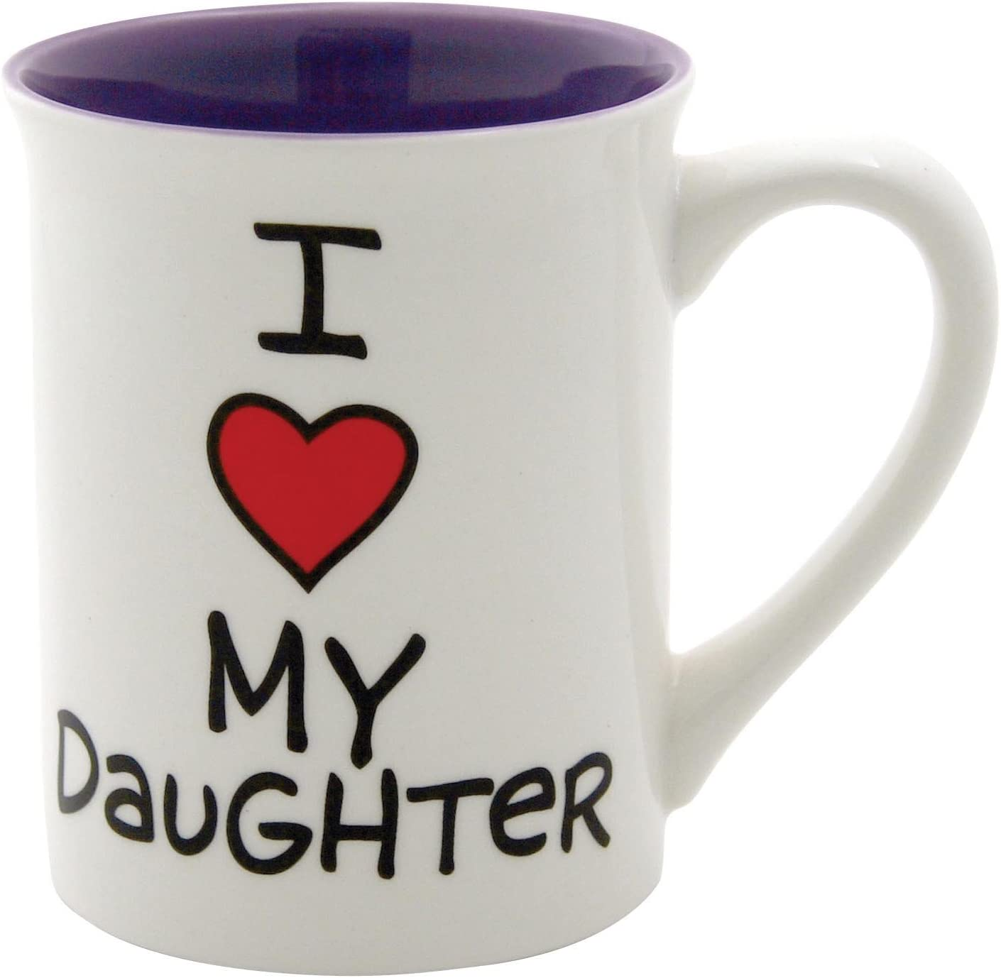 4.5-Inch Enesco ENEYA Our Name is Mud 16-Ounce I Heart My Daughter Mug by Lorrie Veasey
