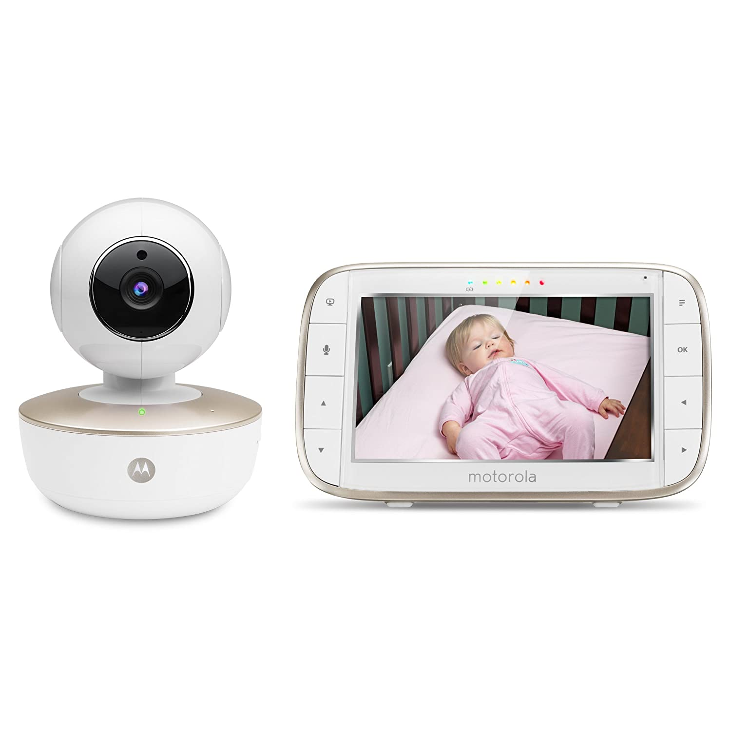 Motorola MBP855CONNECT Portable 5 Inch Screen Video Baby Monitor with Wi Fi and Free Star Grip Support Amazon Bebé