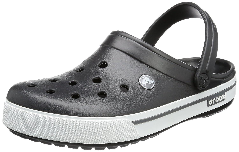 Crocs Crocband II.5 Clog, Zuecos Unisex Adulto 42/43 EU Negro (Black/Charcoal)