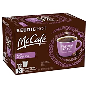 McCafe French Roast Coffee K-Cup Pods, 12 Count