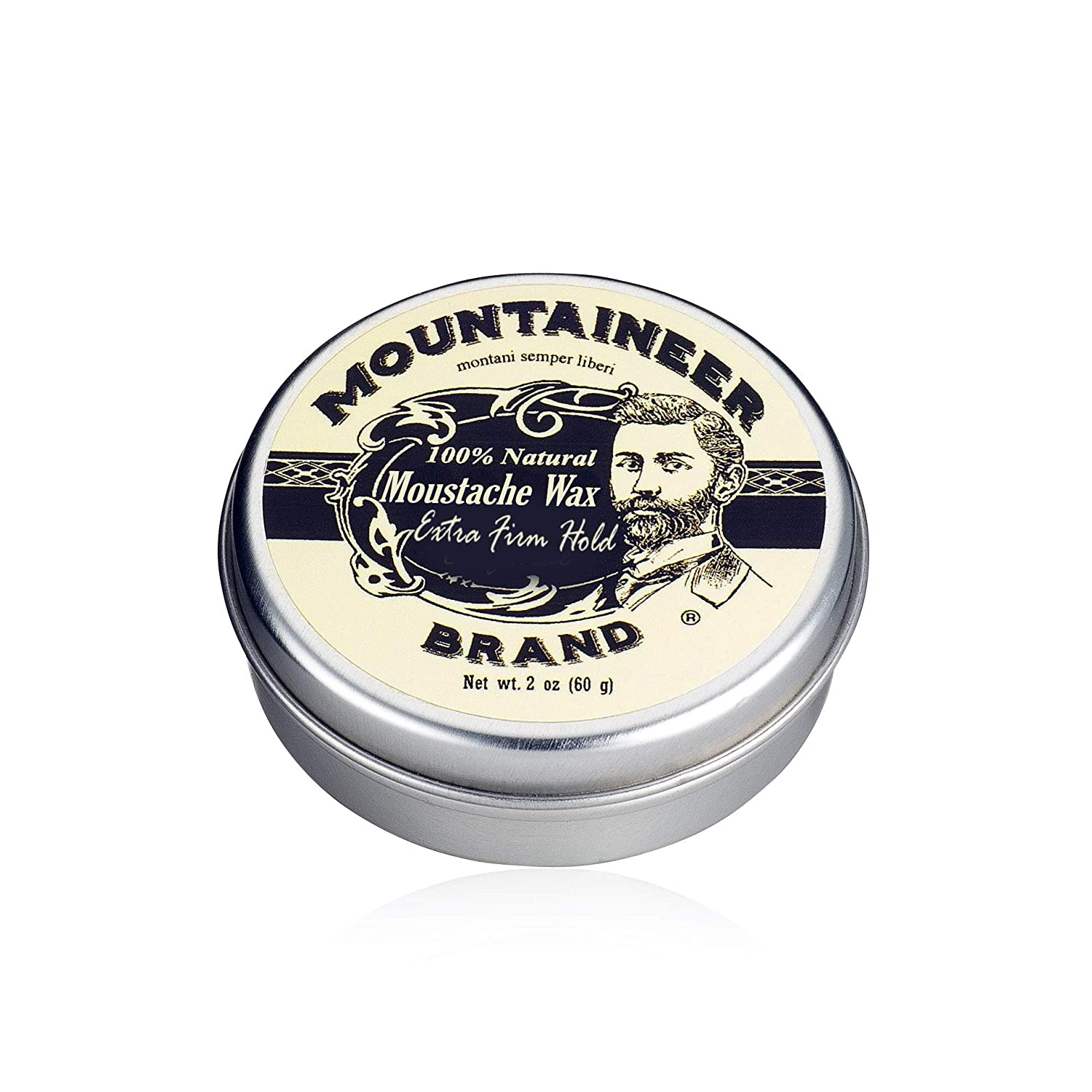 Mustache Wax by Mountaineer Brand - All-Natural, No Residue, Clear and Easy to Use, 2 oz Tin (WV Citrus & Spice)