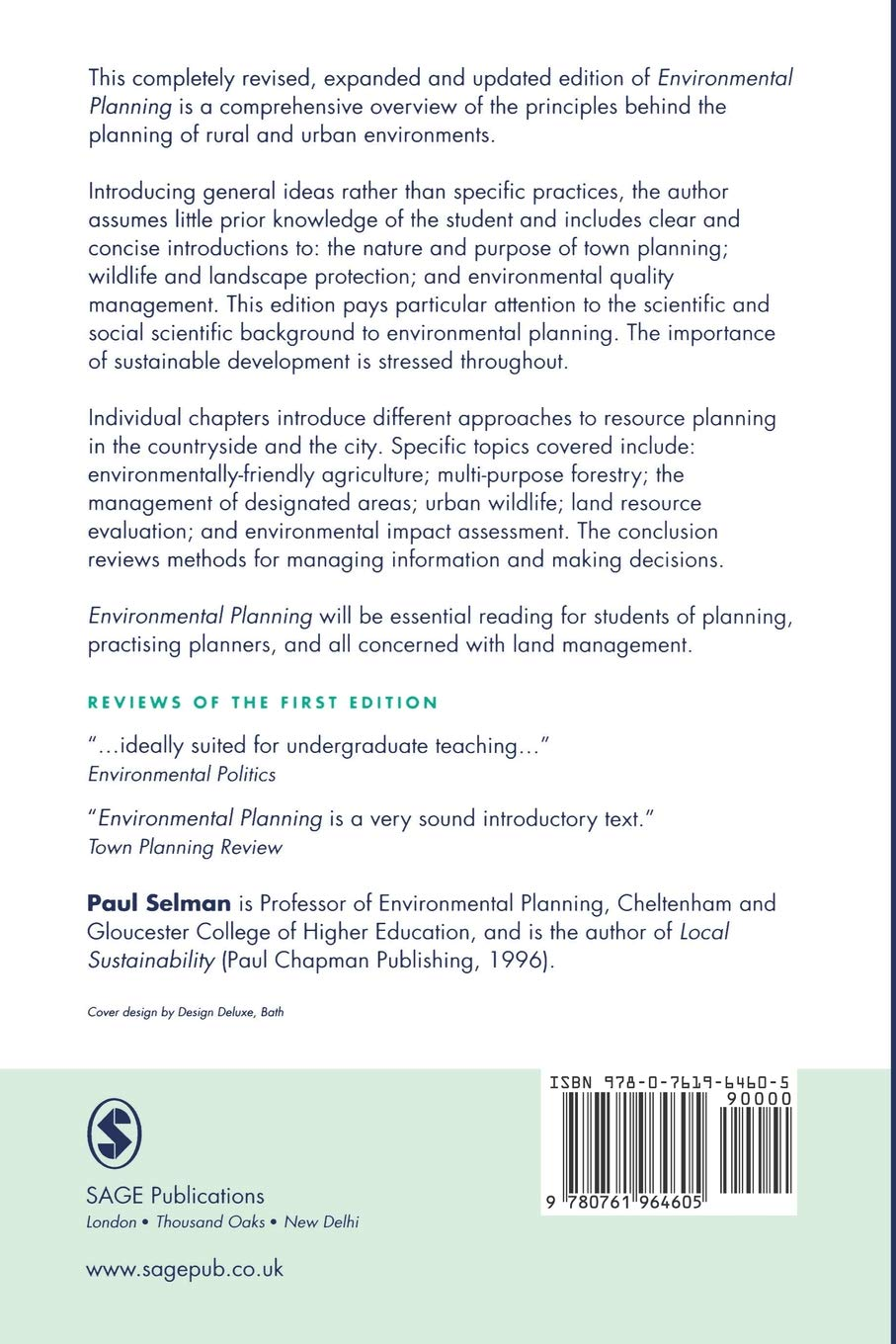 Buy Environmental Planning: The Conservation and Development