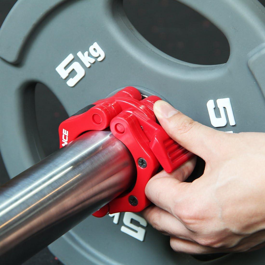 Sollevamento Pesi Bilanciere Morsetto Collare Coppia Di Sgancio Rapido Del Blocco 2 Olimpico Bar Grande Per La Formazione Trasversale Fitness Garanzia a vita