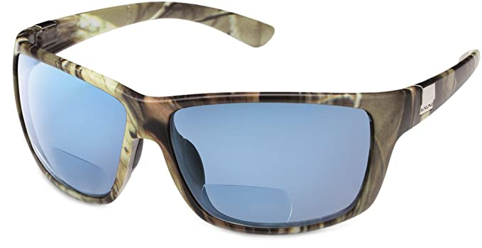 e83f779d44 Suncloud Councilman Polarized Bi-Focal Reading Sunglasses in Matte Camo  with Blue Mirror Lens +