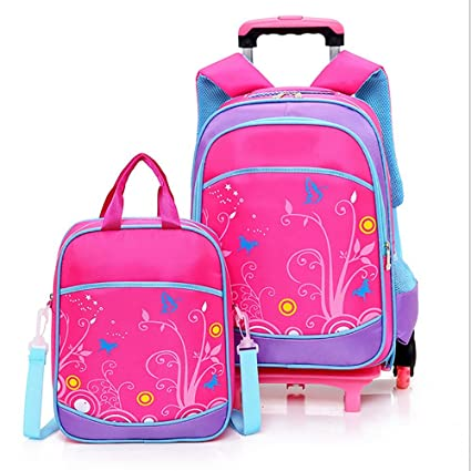 8314b1c8516b Amazon.com: HCC& 2PCS Waterproof Wheeled Backpack Multifunction ...
