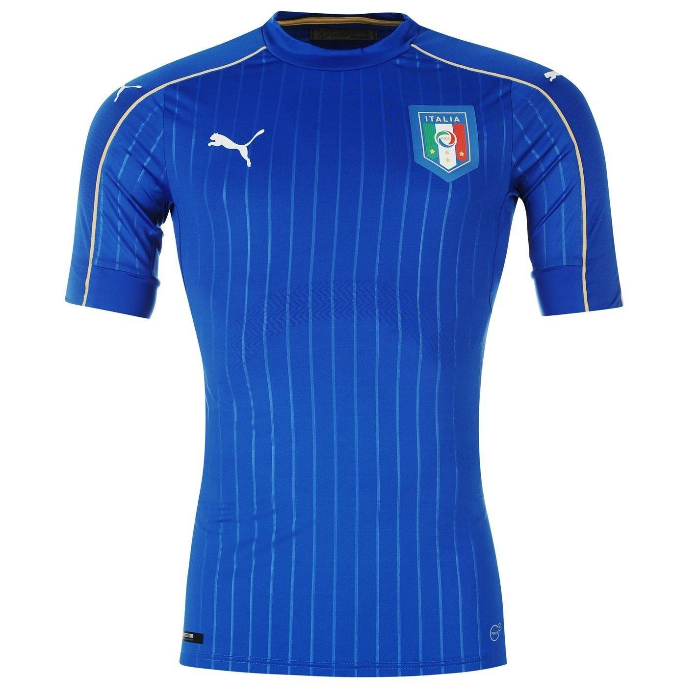 Puma Italy Home Jersey 2016ジュニアブルーサッカーシャツトップ B01GKD9BFA7-8 Years (Small Boys)