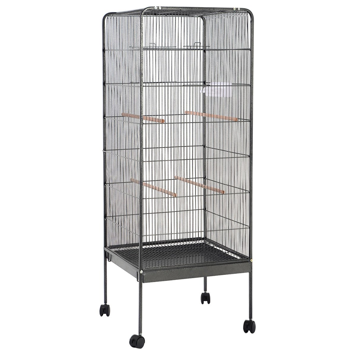 Giantex 58'' Large Parrot Bird Cage Play Top Pet Supplies w/Perch Stand Two Doors Flattop by Giantex