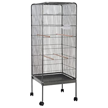 Giantex 58\u0026quot; Large Parrot Bird Cage Play Top Pet Supplies w/Perch Stand Two  sc 1 st  Amazon.com & Amazon.com : Giantex 58\